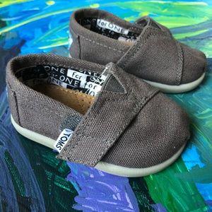 Tiny Tom Ash Canvas Slip-On Shoes